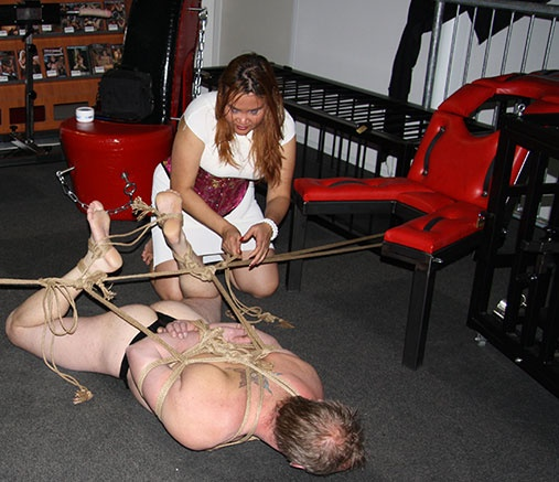 BDSM furniture at Mistress Dewi for real DominAsian